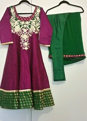 Bollywood indian fully stitched anarkali suit churidar size S brand new!ethnic