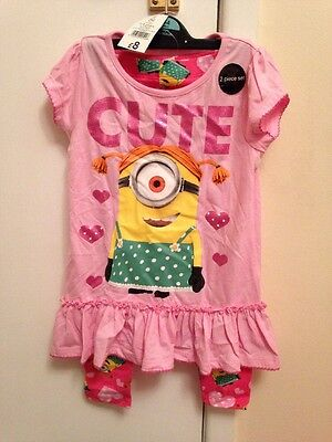Minions Outfit Girls Age 3-4