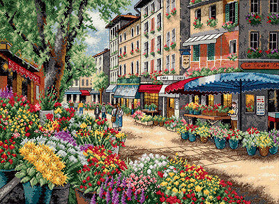 """""""Gold Collection Paris Market Counted Cross Stitch Kit-15""""""""X11"""""""" 18 Count"""""""