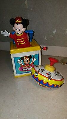1987 Mattel Mickey Mouse Jack-in the Box vintage as collectible