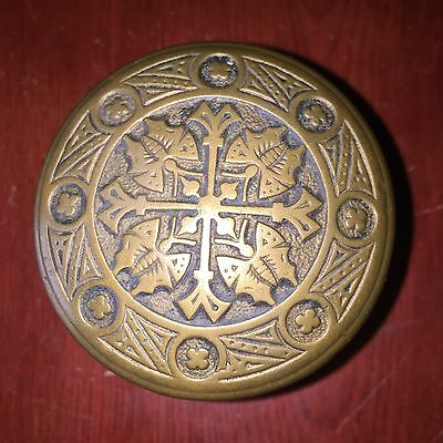 "Collectible Cast Brass Large Entry VICTORIAN NORWALK ""4 BUTTERFLIES Door Knob"