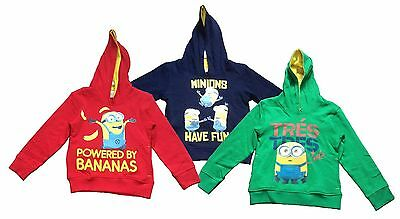 Minions Boys Girls Kids Hoodie Hooded Jumper Hoody Unisex Reduced To Clear New