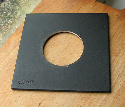 genuine Sinar F & P  lens board panel with copal compur 3 hole  62.5mm