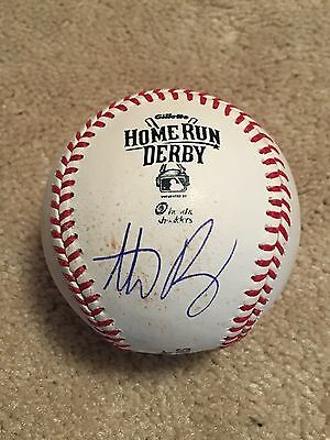 Anthony Rizzo 2015 Home Run Derby Signed Game-Used Mlb Baseball Chicago Cubs Out