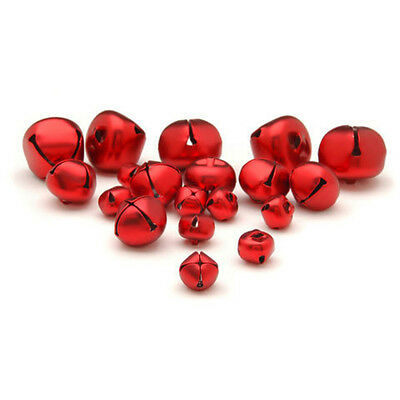 Jingle Bells - Red Matte - Assorted Sizes - 19 pieces