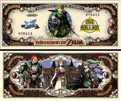 Legend Of Zelda Million Dollar Novelty Bill Money