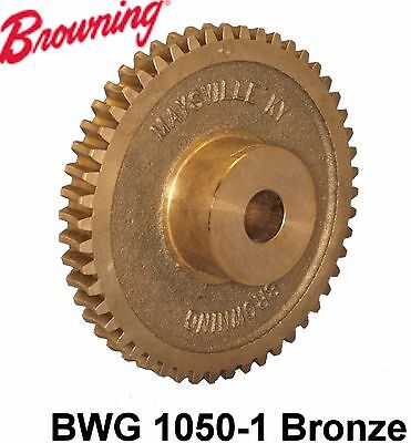 "Browning Worm Gear BWG 1050-1 Bronze 14.5 Pressure angle O.D. 5.2250"" new"