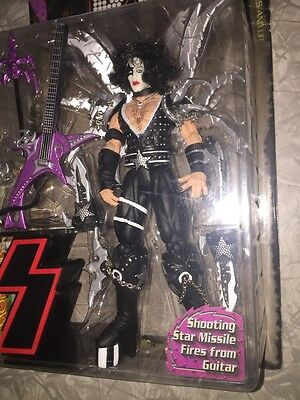 KISS Paul Stanley Ultra Action Figure NIB 1997 Shooting Star Missile Guitar rock