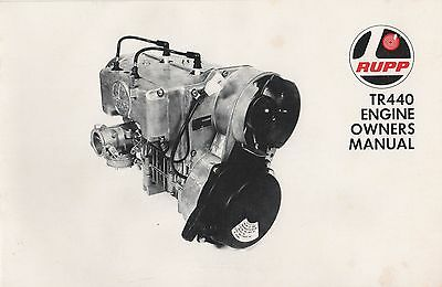1971 Rupp Tr440 Engine Owners Manual P/n 16621 (651)