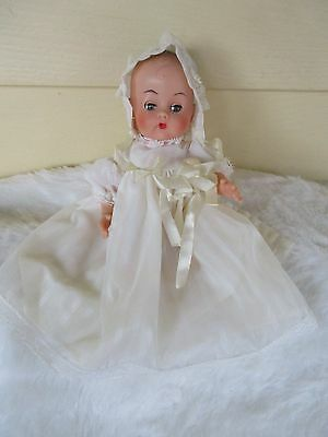 Vtg Baby Vicki Vogue Ginnette Clone Doll w flowered Outfit and christening dress