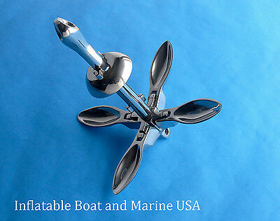 Boat Anchor-Folding Grapnel Type 1.5 Lb / 0.7 Kg - 316 Marine Stainless Steel