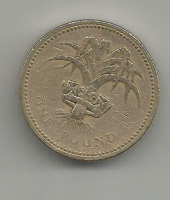 1986 One Pound Coin - leek of Wales - £1 UK - circulated