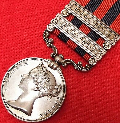 Pre Ww1 British 2 Bar 1854 India General Service Medal War 1St Bn Rifle Brigade