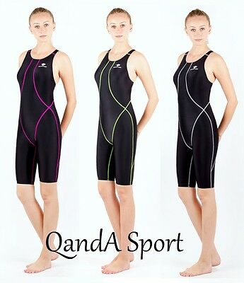 Girls Ladies Performance Technical Competition Racing Kneesuit Kneeskin Swimsuit