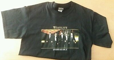 Westlife promo T-shirt Unbreakable Tour 2003