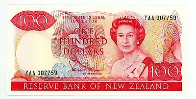 New Zealand ... P-175a ... 100 Dollars ... ND(1981-85) ... *XF-AU*