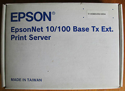New Sealed EpsonNet C12C824032-0034 10/100 Network Print Server