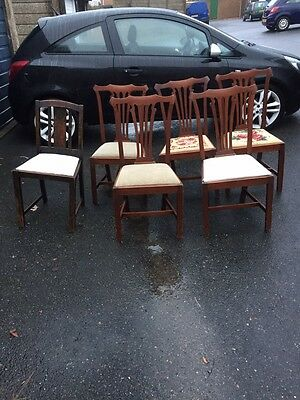 Set Of 5 Victorian Edwardian Dining Chairs