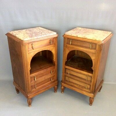 Pair of Art Deco bedside cabinets       a14350