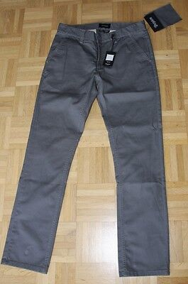 "Brixton Slim Fit Chino Pant ""Grain"", charcoal, Gr. 32"