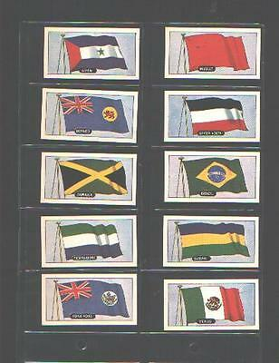 tea cards flags of the world lipton 1967 complete set