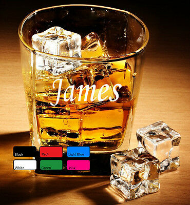 Personal Whisky Art Glass Sticker Decals Gifts For Men Uncle Brother Friends 1