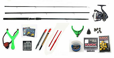NGT Big Value Starter Coarse fishing kit Rod,Reel,floats,shot,line,catapult
