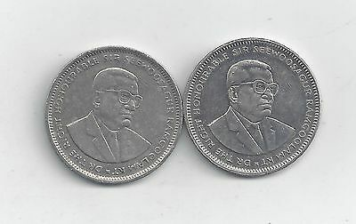 2 DIFFERENT 1 RUPEE COINS from MAURITIUS (1994 & 2002)