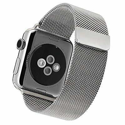 SILVER STAINLESS STEEL MESH XL Wristband Band Strap For iWatch 42MM APPLE WATCH