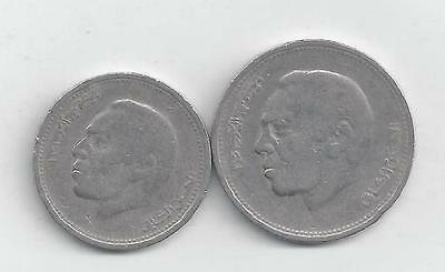 2 DIFFERENT COINS from MOROCCO - 1/2 & 1 DIRHAM (BOTH DATING 1987)