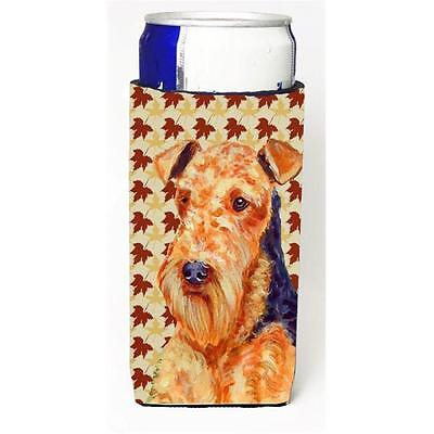 Airedale Fall Leaves Portrait Michelob Ultra s For Slim Cans 12 oz.