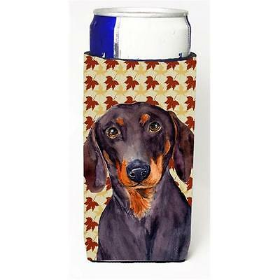 Dachshund Fall Leaves Portrait Michelob Ultra s for slim cans
