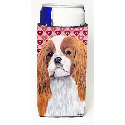 Cavalier Spaniel Hearts Love and Valentines Day Portrait Michelob Ultra bottl...