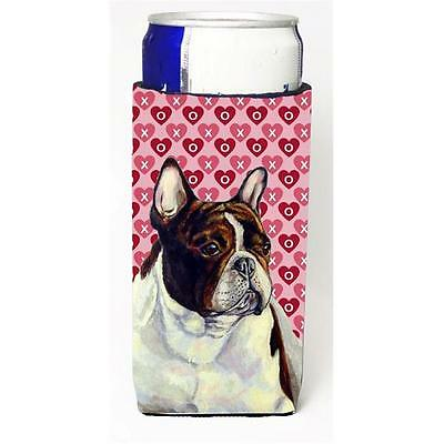 French Bulldog Hearts Love And Valentines Day Portrait Michelob Ultra bottle ...