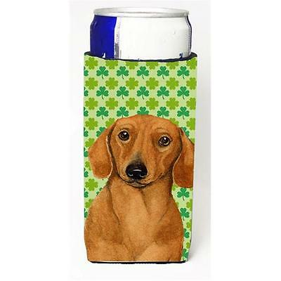 Dachshund St. Patricks Day Shamrock Portrait Michelob Ultra bottle sleeves Fo...