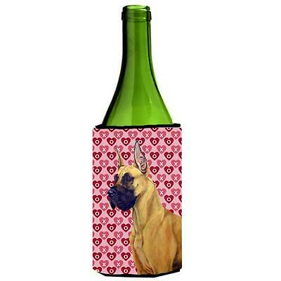 Great Dane Hearts Love And Valentines Day Portrait Wine Bottle Hugger 24 oz.