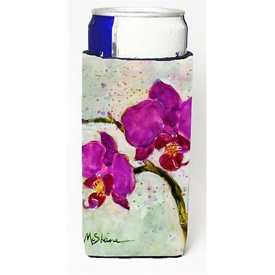 Carolines Treasures Flower Orchid Michelob Ultra bottle sleeve for Slim Can