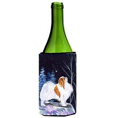 Carolines Treasures Starry Night Japanese Chin Wine bottle sleeve Hugger 24 oz.