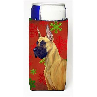 Great Dane Red And Green Snowflakes Holiday Christmas Michelob Ultra bottle s...