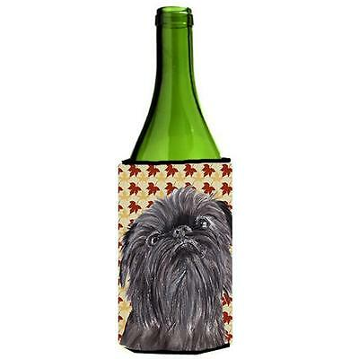 Carolines Treasures Brussels Griffon Fall Leaves Wine bottle sleeve Hugger
