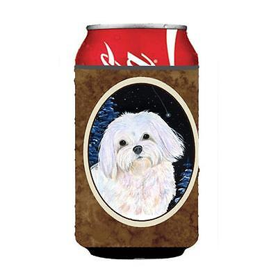 Carolines Treasures Starry Night Maltese Can Or bottle sleeve Hugger 12 oz.