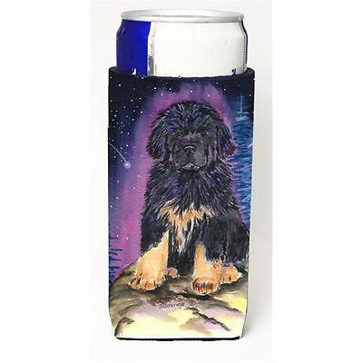 Starry Night Tibetan Mastiff Michelob Ultra bottle sleeves for slim cans 12 oz.