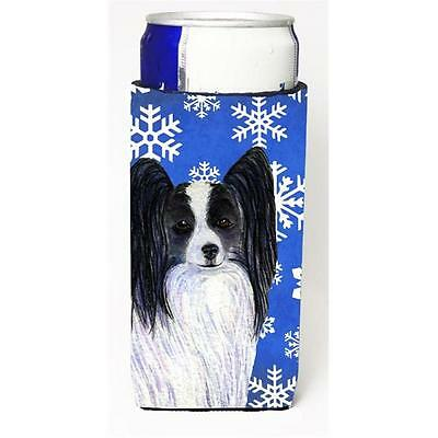 Papillon Winter Snowflakes Holiday Michelob Ultra bottle sleeves for slim can...
