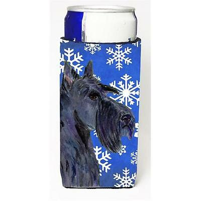 Scottish Terrier Winter Snowflakes Holiday Michelob Ultra bottle sleeves For ...