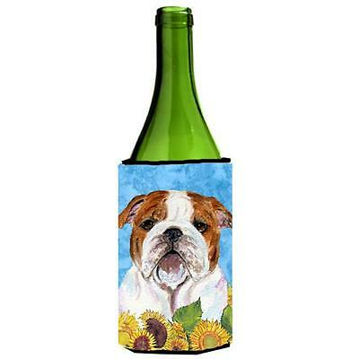 Bulldog English In Summer Flowers Wine bottle sleeve Hugger 24 oz. • AUD 48.26