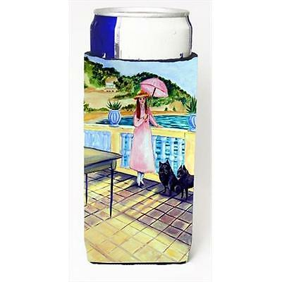 Lady With Her Schipperke Michelob Ultra bottle sleeves For Slim Cans