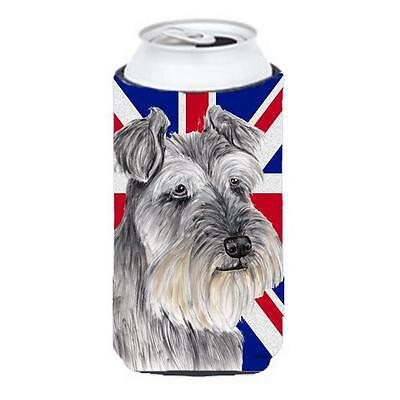 Schnauzer With English Union Jack British Flag Tall Boy bottle sleeve Hugger ...