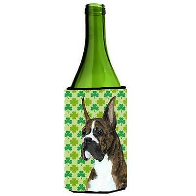 Boxer St. Patricks Day Shamrock Wine bottle sleeve Hugger 24 oz.