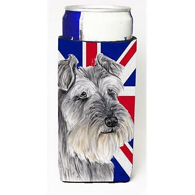Schnauzer With English Union Jack British Flag Michelob Ultra bottle sleeves ...
