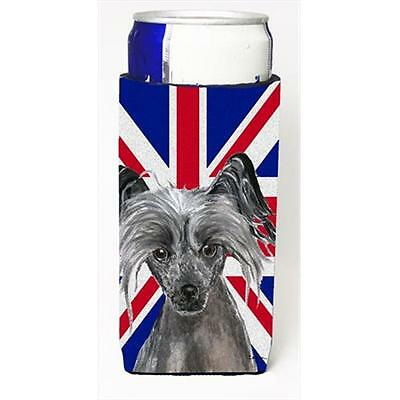 Chinese Crested With English Union Jack British Flag Michelob Ultra bottle sl...